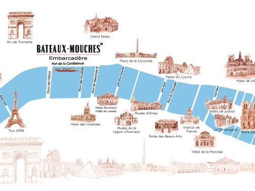 Percorso Bateaux Mouches -  Imbarco Pont de l'Alma
