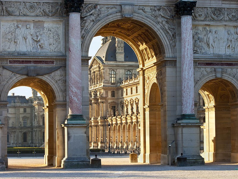 arco di trionfo del carrousel monumenti a parigi. Black Bedroom Furniture Sets. Home Design Ideas