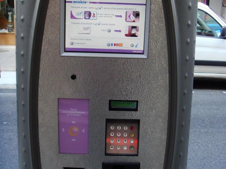 Velib - macchinetta Touchscreen