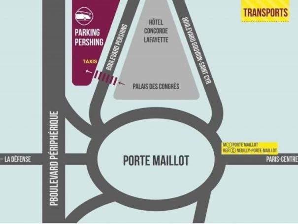 Pianta del parcheggio Parigi Pershing Porte Maillot