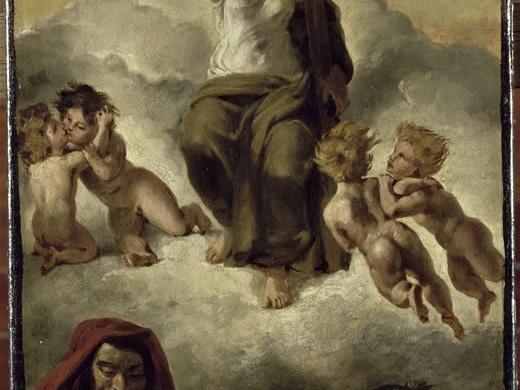 Esquisse pour la Vierge du Sacré-Coeur - Eugène Delacroix