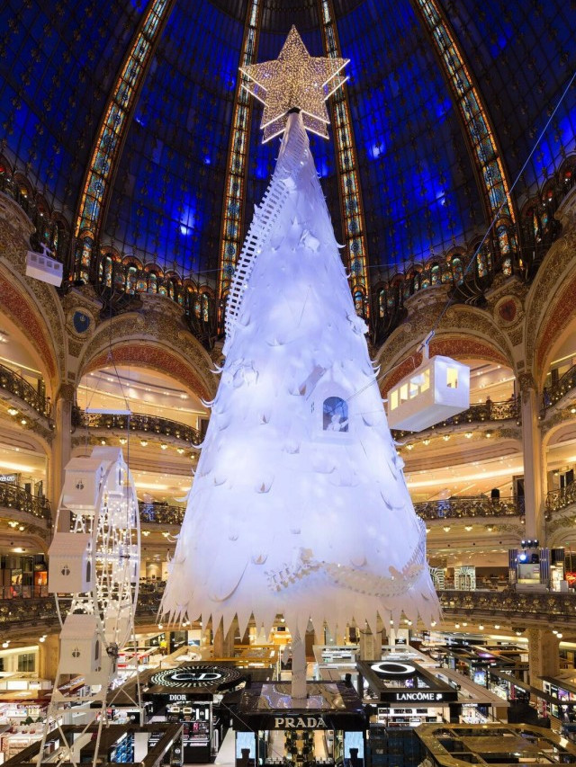 Albero di Natale 2016 Galeries Lafayette Haussmann Parigi