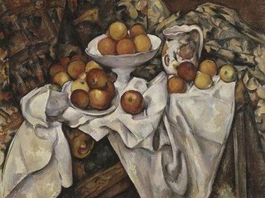 Cézanne_Natura morta con mele e arance