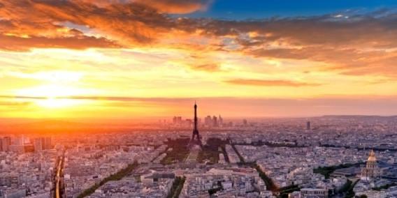 Vista panoramica al tramonto - Tour Montparnasse 56 Parigi