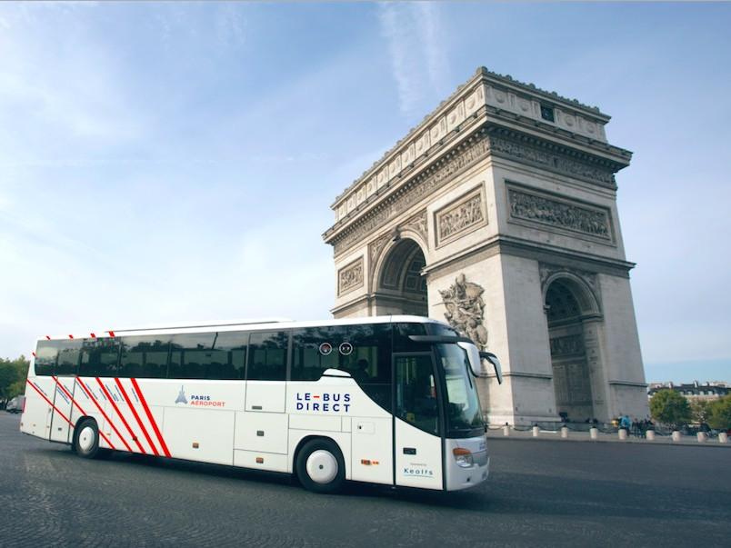 Le bus Direct CDG Paris