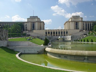 Giardini del Trocadero a Parigi e la famosa Fontana di Varsavia