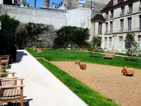 Il giardino di Francs Bourgeois-Rosiers a Parigi - Parchi e Giardini a Parigi