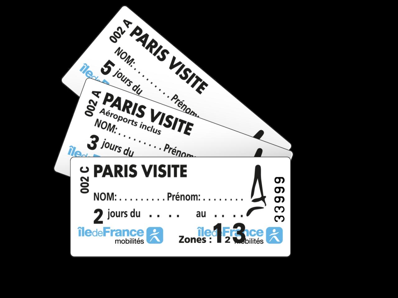 Abbonamento trasporti Paris Visite|Carta trasporti