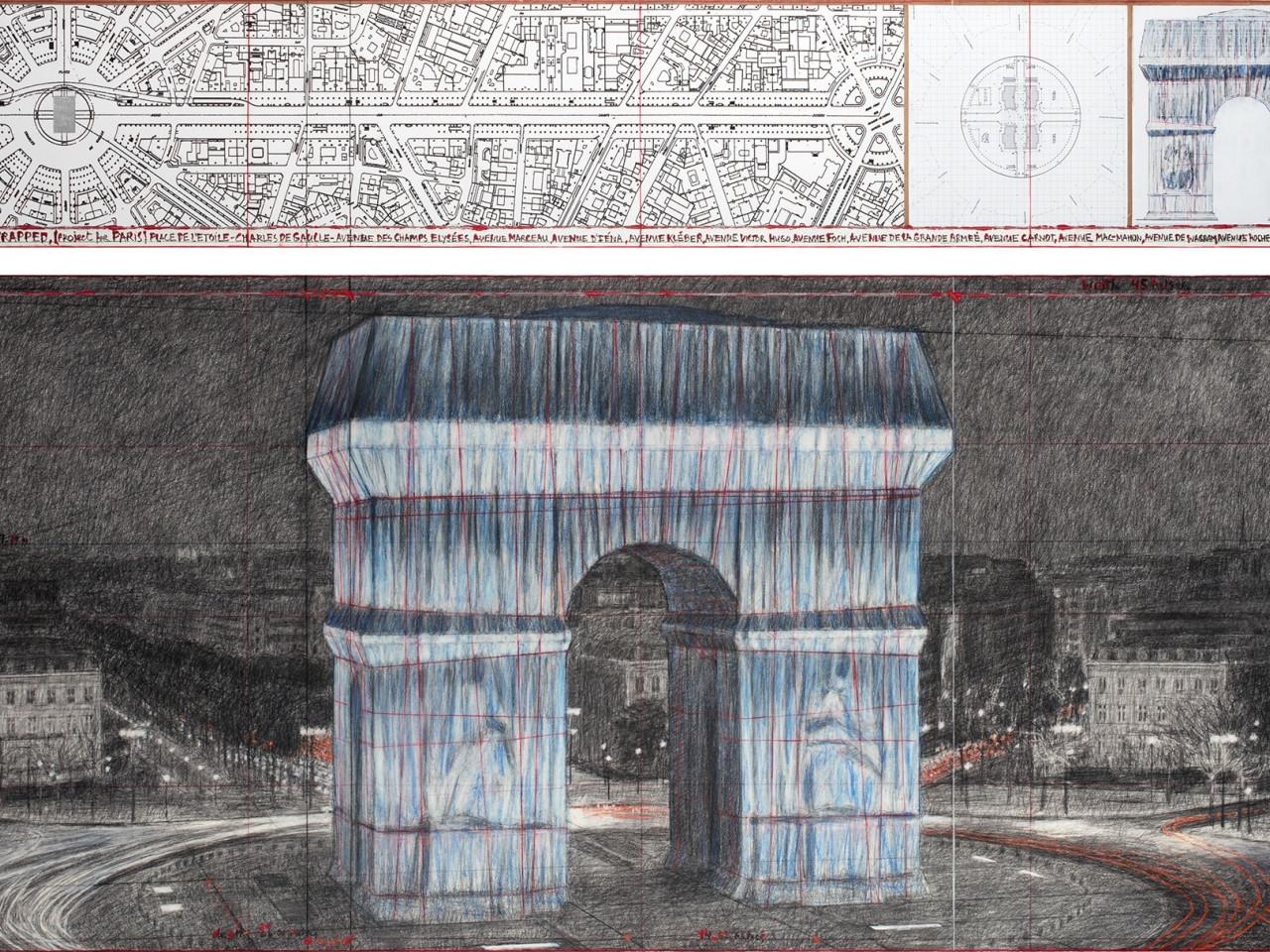 Parigi impacchetta l'Arco di Trionfo
